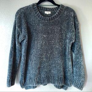 Cupio sea foam green chenille pullover sweater